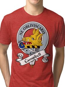 00033 Burns 1930 Clan Tartan  Tri-blend T-Shirt