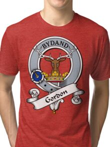 00034 Gordon Clan/Family Tartan Tri-blend T-Shirt