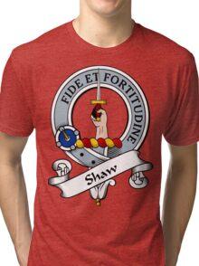00035 Shaw Clan Tartan  Tri-blend T-Shirt