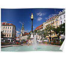 Fountain at the Iron Gate, Graz Poster