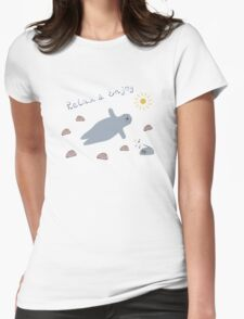 Cartoon baby seal Womens Fitted T-Shirt