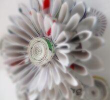 Paper kanzashi flower by Jemma Murphy