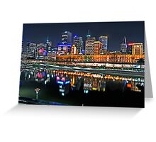 Melbourne Flinders Street Station Greeting Card