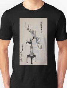 Yenshu ryu ikebana hiak bin no zu shiki konzatsu Flower arrangement in the Enshu style V1 1897 0031 T-Shirt