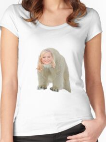 Poehler Bear Women's Fitted Scoop T-Shirt