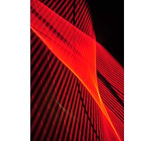 Red wave of neon Photographic Print