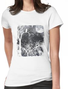 Forest at Night Womens Fitted T-Shirt