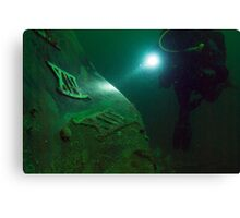 Out of the Deep - the wreck of the HMCS Columbia Canvas Print