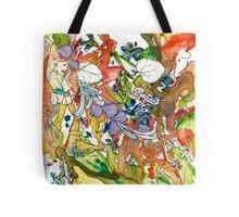 Rainbow Frolic Tote Bag