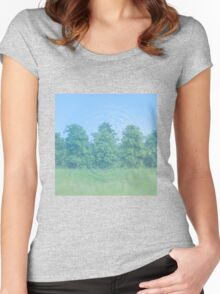 Trees Reflecting Off Water Women's Fitted Scoop T-Shirt
