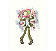 Past Lives On Television Art Print