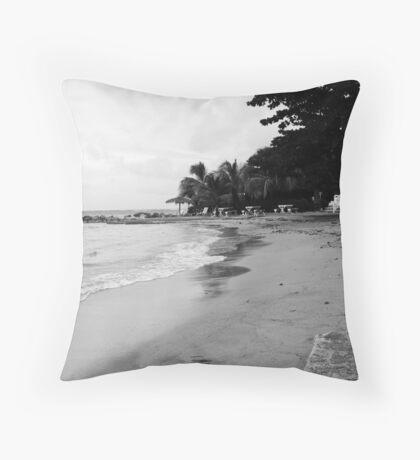 Jamaica Beach Throw Pillow
