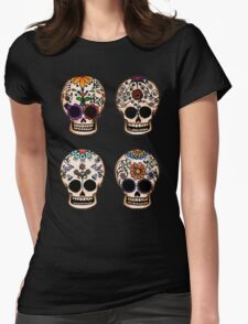 Sugar Skull Set Womens Fitted T-Shirt