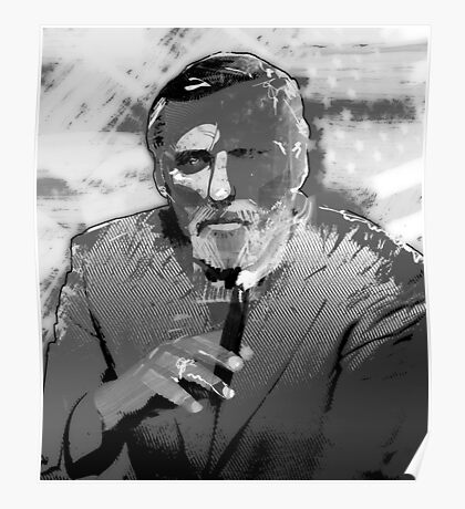 Dennis Hopper Portrait Poster