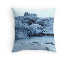 Rocky Blue Cove Throw Pillow
