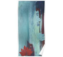 Lotus Blue contemporary abstract peaceful art Poster