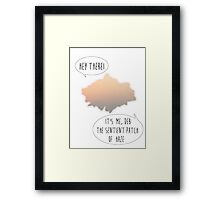 Deb the Sentient Patch of Haze Framed Print
