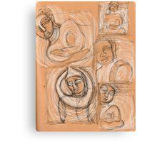 Different buddhas Canvas Print