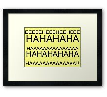 Lux's Laugh Framed Print