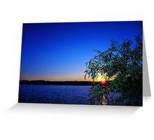 Lakeside Colour : Caldecotte, Buckinghamshire Greeting Card