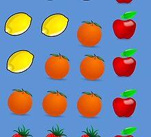 Delicious Fruits by rapiddstudios