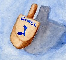 Dreidel - Gimel, Gants, All by Amy-Elyse Neer