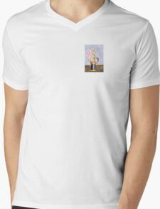 Miss Mouse Knitting Mens V-Neck T-Shirt