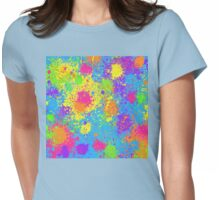 Splattah in Blue Womens Fitted T-Shirt