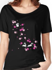 Japanese Bunny - Pink Women's Relaxed Fit T-Shirt