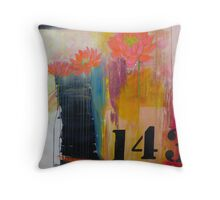 143 Billboard for Love urban graphic abstract Throw Pillow