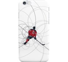 Ice hockey player in red dress iPhone Case/Skin