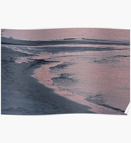 Morning Stroll on the Beach Poster