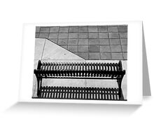 Empty Bench Greeting Card