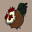 Old English Game Rooster by Shukura