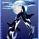 Two Leaping Orcas by Lotacats