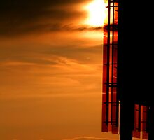 Sunset Silhouette Architecture Photograph for Sale by Toby Davis