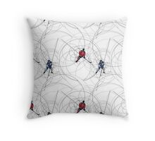 Ice hockey pattern Throw Pillow