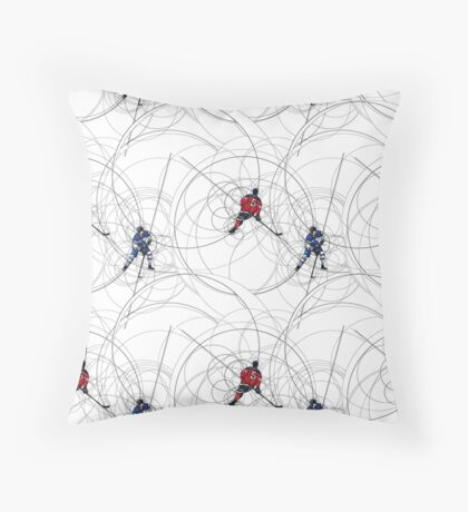 Ice hockey pattern Throw Pillow