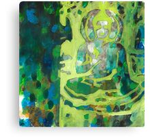 Meditating Buddha contemporary spiritual abstract Canvas Print