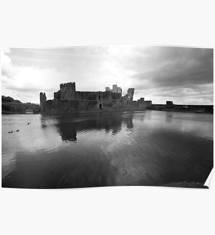 Caerphilly Castle - Wales Poster
