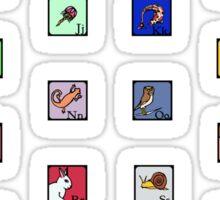 Animal Alphabet Sticker