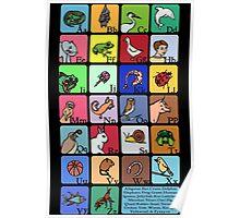 Animal Alphabet Poster