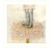 Stepping Into Lotus yoga inspired art Art Print