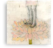 Stepping Into Lotus yoga inspired art Metal Print