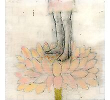 Stepping Into Lotus yoga inspired art Photographic Print