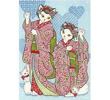 Maneki Neko Maiko Photographic Print