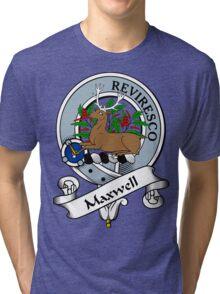 00099 Maxwell Clan/Family Tartan  Tri-blend T-Shirt