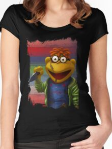 Muppet Maniac - Scooter as Chucky Women's Fitted Scoop T-Shirt