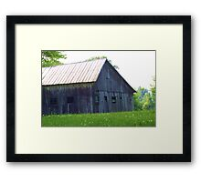 ANOTHER BARN FROM THE PAST Framed Print