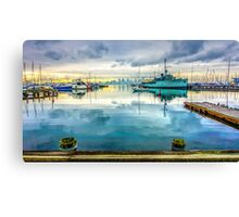 HMAS Castlemaine at Hobsons Bay Yacht Club - Melbourne, Victoria Canvas Print